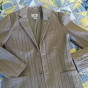 Armani Exchange caramel color textured jacket